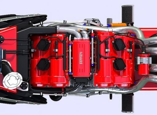 Суперский Мотоцикл Ferrari с тачскрин-управлением