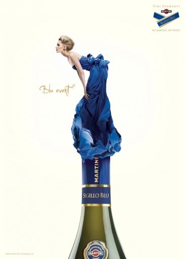Очень креативная реклама мартини