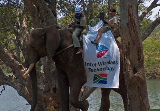 Крупная рекламноя компания интел или лучшее в африку :D