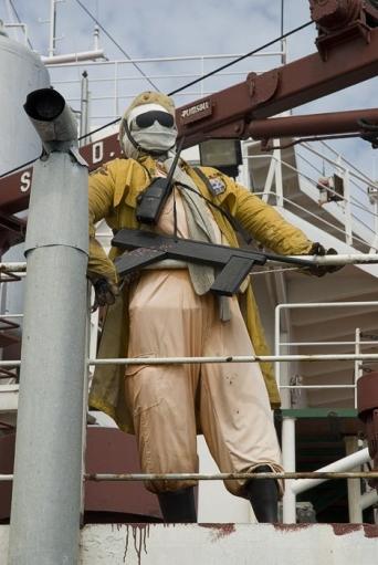 Универсальный способ защиты судов от морских пиратов.