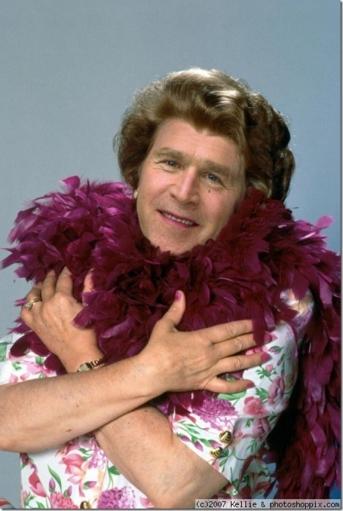 Подборка фотожаб на Джорджа буша; Джордж БУШ - фотожабы!