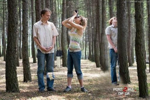 "Фотожабы на фото: ""Тройка в лесу"""