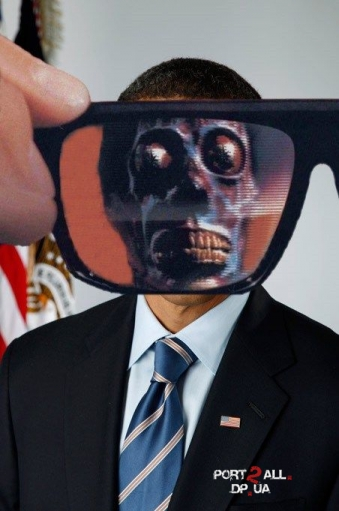 Прикольные и даже очень позитивные фотожабы на официальный портрет Обамы (36 работ)