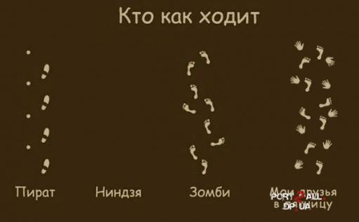 """Фотожабы на картинку """"Как кто ходит"""" (30 работ)"""