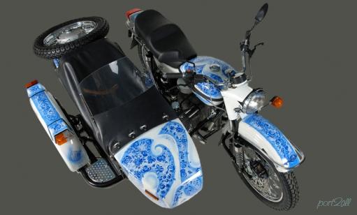 Урал Gzhel Edition мотоцикл - икрасавец.
