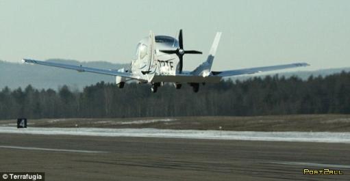 Terrafugia Transition - первая в мире летающая машина. Первый полет.
