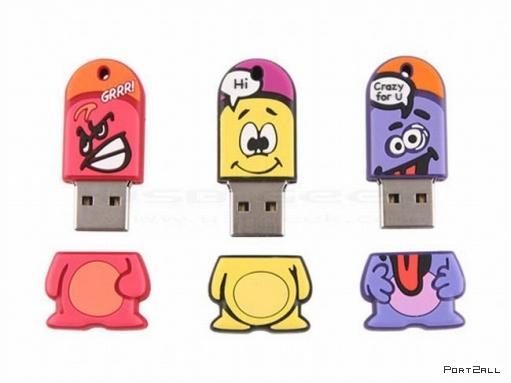 Необычные, Карты памяти - USB Flash) (20 штук)