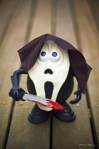 Мистер картошка модифицированый пластилином