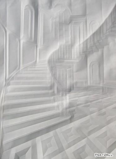 Рисунки сделанные выдавливанием на бумаге