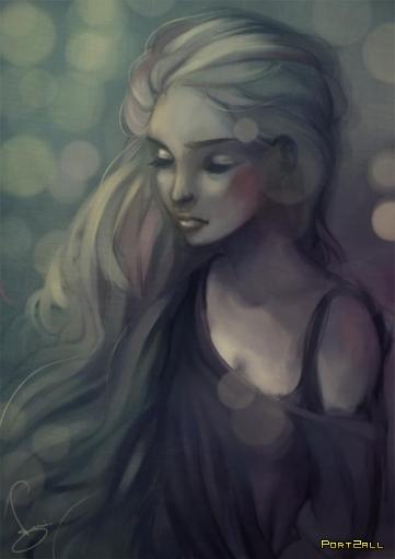Рисованные девушки