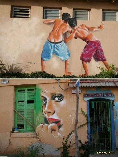 Классные рисунки на стенах!