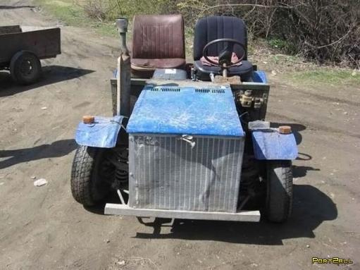 6 фото самодельного трактора. Самодельный трактор