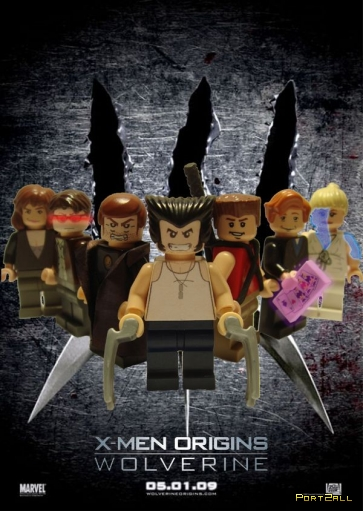 Постеры к кинофильмам с использованием Lego