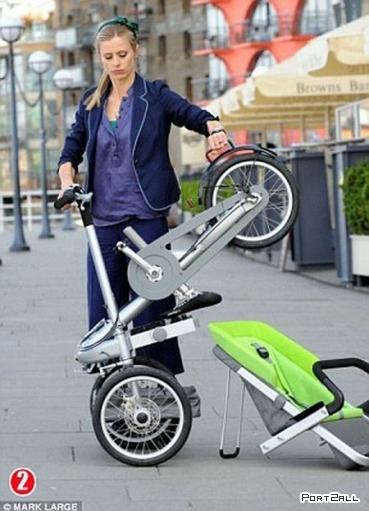 Классная прогулочная коляска для детей или Коляска будущего! Коляска - трансформер.