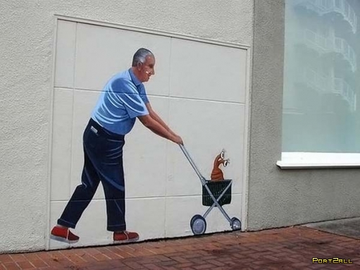 Еще отличные 3д рисунки на стенах! (36 фото!!!)