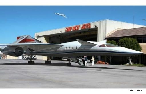 Сверхзвуковой самолет под названием Quiet Supersonic Transport (QSST).