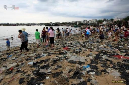 Китайский пляж - не для слабонервных)
