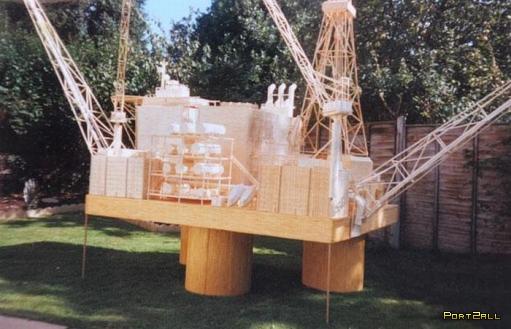 Буровая установка из спичек или 15-летнее хобби.