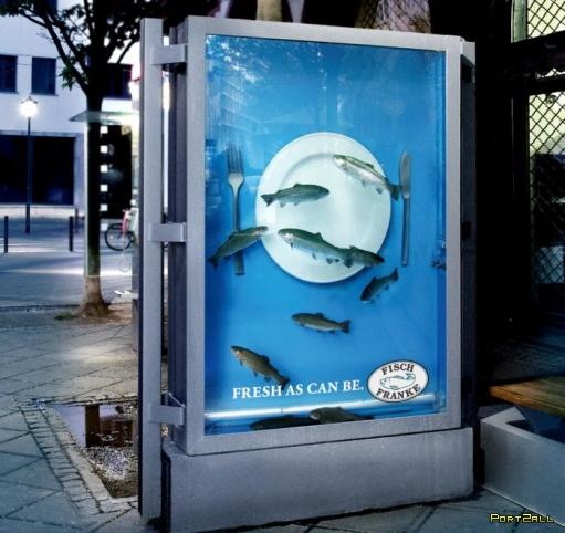 Креативная реклама рыбного ресторана (4 фото)