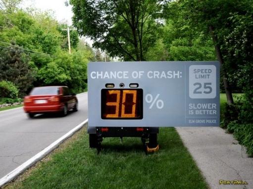 Интересный подход к борьбе с превышениями скорости (3 фото)
