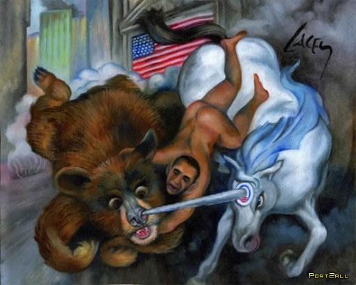 Рисунки: голый Обама и единорог!