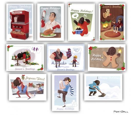 Team Fortress 2 - Новогодние открытки