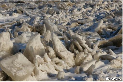 Замерзшая река Мисисипи