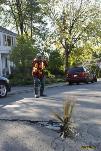 Креативное использование дорожных ям! Ямы на дорогах - зачем?