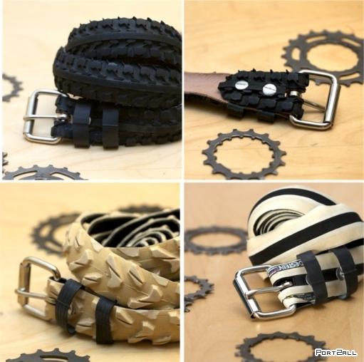Ремни из велосипедных покрышек. Велосипедные покрышки - креативное использование.