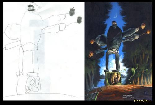 Безумные картинки, детские фантазии, психодел, Dave Devries, Дэйв Деврис