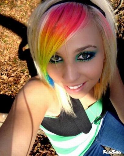 Девушка - радуга!