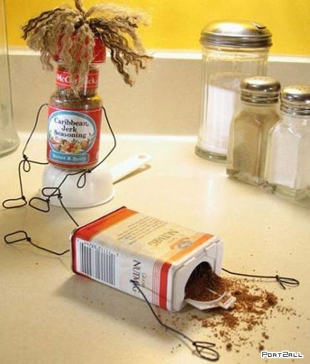Ожившие продукты, предметы домашнего обихода от фотографа Терри Бордера