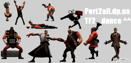 TF2 Dance! Pyro dance, sniper dance, heavy&medic dance, demoman dance, scout dance, soldier dance, enginear dance, spy dance