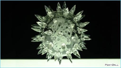 Необычные работы из стекла от Люка Джеррама (14 фото) Вирусы из стекла