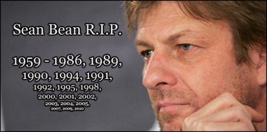 Постоянно умирающий Шон Бин. Sean Bean Die 21 times. Все кино-смерти Шона Бина.