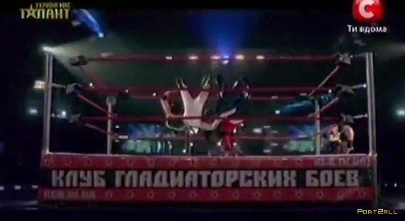 Україна має талант - 4. ОЛЕГ ФРОЛОВ (bmx) и Клуб Гладиаторских Боев (Реслинг)