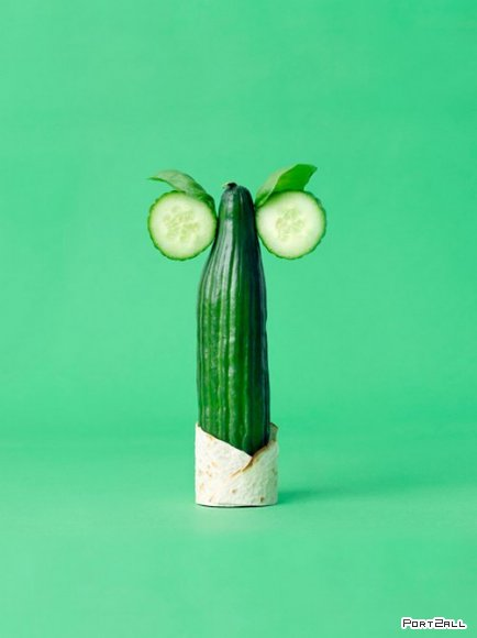 Скульптуры из овощей от Carl Kleiner