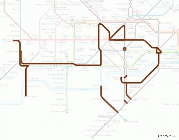 Животные лондонского метро