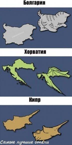 А что видишь ты, глядя на карту Европы?