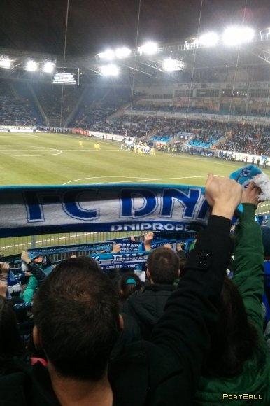 Фото с футбольного матча Днепр - Металлист 06.10.2013
