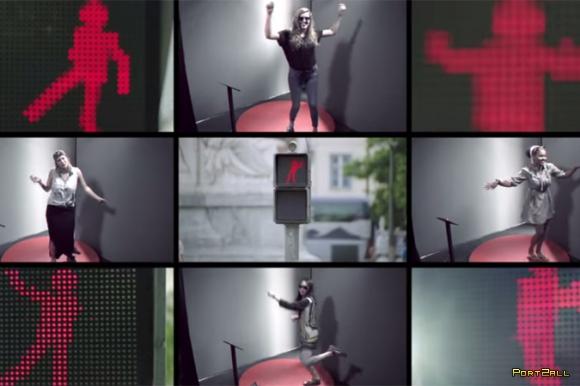 Танцующий светофор от компании Smart   The Dancing Traffic Light