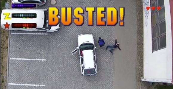 Фаны GTA-2 сняли на дрон видео live-игры | GTA 2 Live